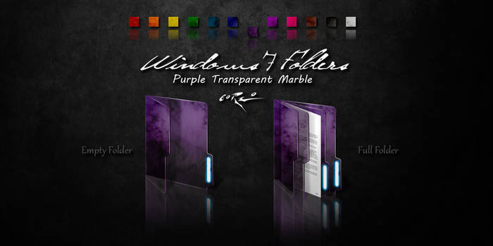 Purple Windows 7 Folders