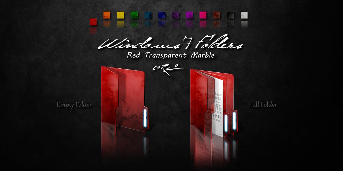 Red Windows 7 Folders by Drawder