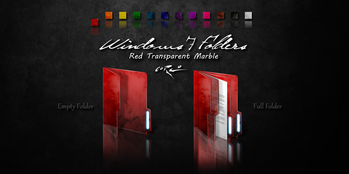 Red Windows 7 Folders by Drawder