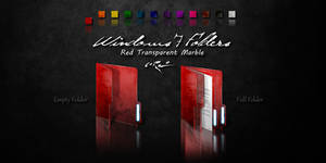 Red Windows 7 Folders