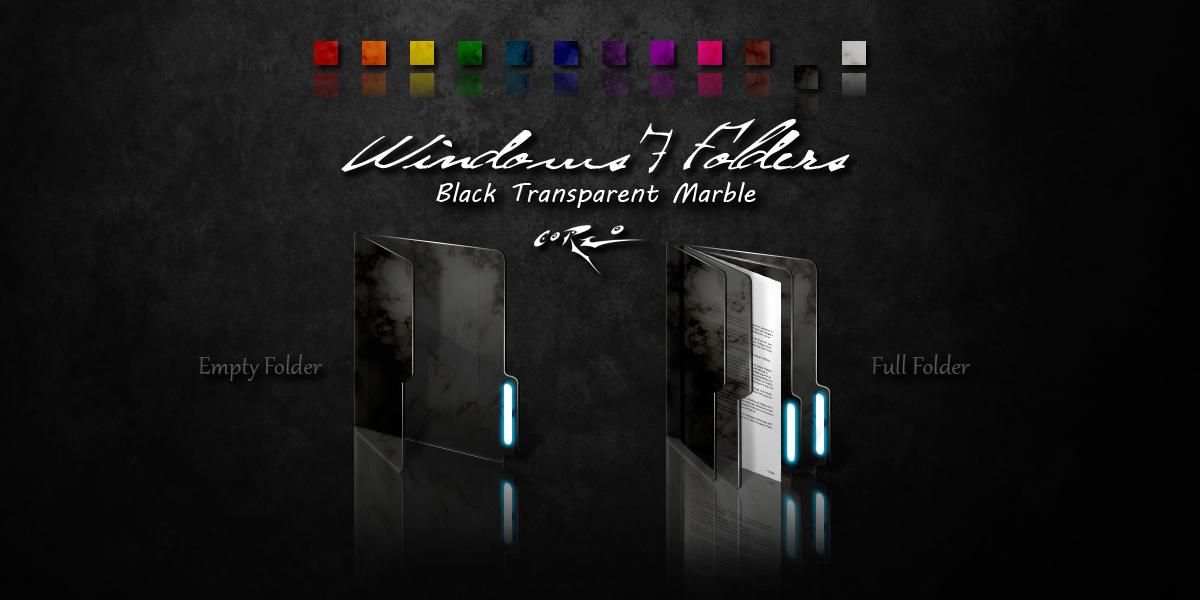 Black Windows 7 Folders by Drawder
