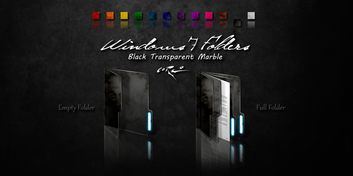 Black Windows 7 Folders By Drawder On Deviantart