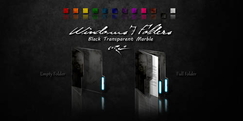 Black Windows 7 Folders