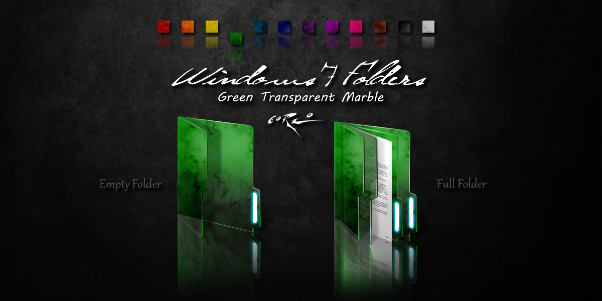 Green Windows 7 Folders By Drawder On Deviantart