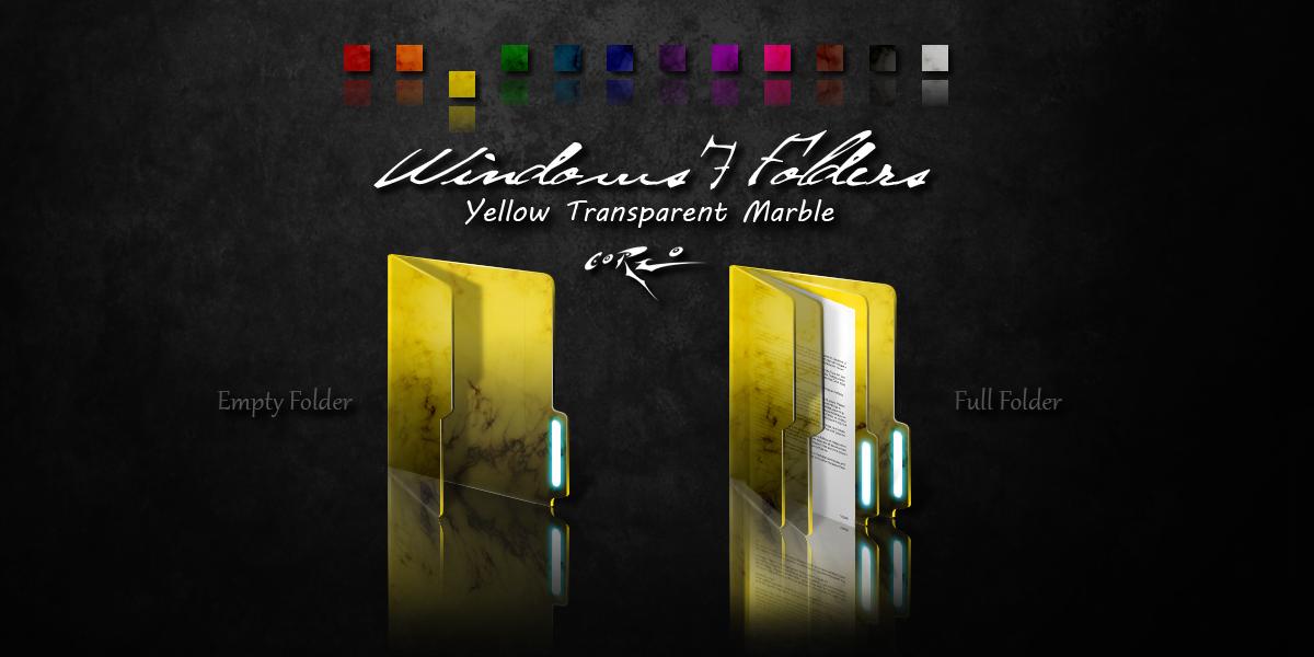 Yellow Windows 7 Folders by Drawder
