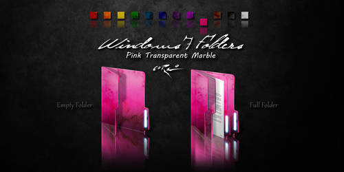 Pink Windows 7 Folders by Drawder