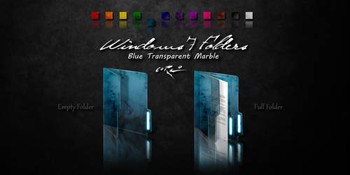 Blue Windows 7 Folders by Drawder