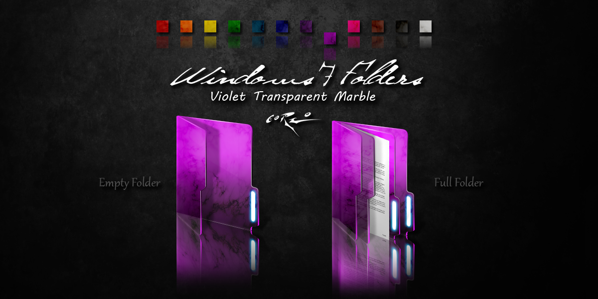 Violet Windows 7 Folders By Drawder On Deviantart