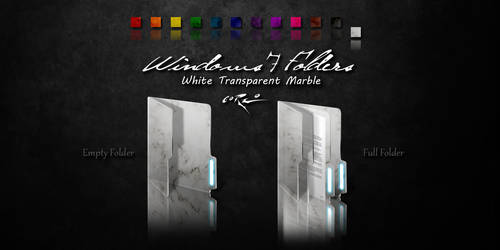 White Windows 7 Folders by Drawder