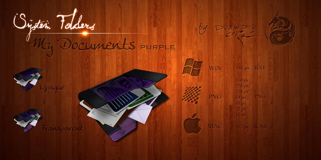Purple 'My Documents' Icon by Drawder