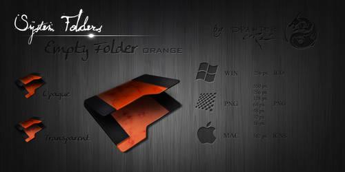 Orange Empty Folder by Drawder