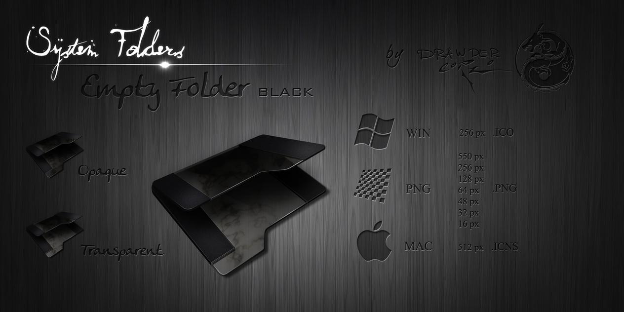 Black Empty Folder by Drawder