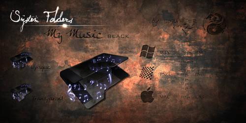 Black 'My Music' Icon by Drawder