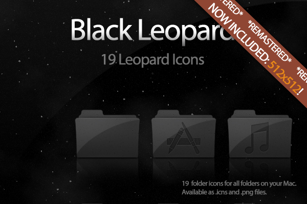 Black Leopard Icon Set UPDATE