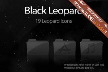 Black Leopard Icon Set UPDATE by DecompositionBeauty
