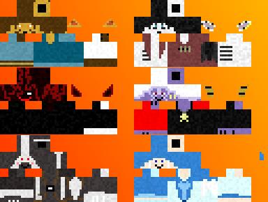 Minecraft SlightlyDamned Skins by ekkkkkknoes