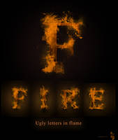 Ugly letters in flame
