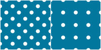 Polka Dot Pattern - white blue