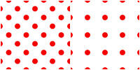 Polka Dot Pattern - red white by Aless1984