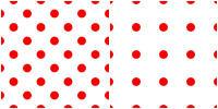 Polka Dot Pattern - red white