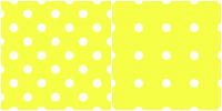 Polka Dot Pattern-white yellow