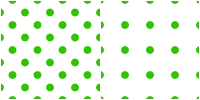 Polka Dot Pattern -green white by Aless1984