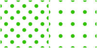 Polka Dot Pattern -green white