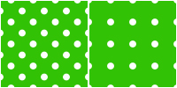 Polka Dot Pattern -white green by Aless1984