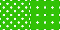 Polka Dot Pattern -white green