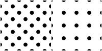 Polka Dot Pattern -black white