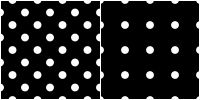 Polka Dot Pattern -white black by Aless1984