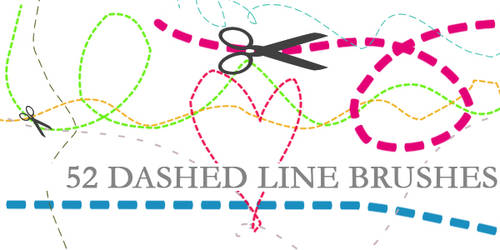 Dashed Line Brushes by Aless1984