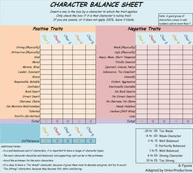 Character Balance Sheet Excel