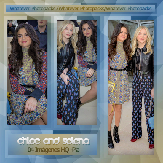 Photopack 0566 - Chloe Moretz And Selena Gomez by WhateverPhotopackss