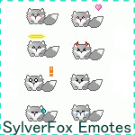 SylverFox Emoticon Pack by InspireMari