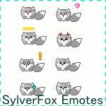 SylverFox Emoticon Pack by InspireMari