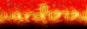FIRE TEXT SCRIPT-FU by kward1979uk