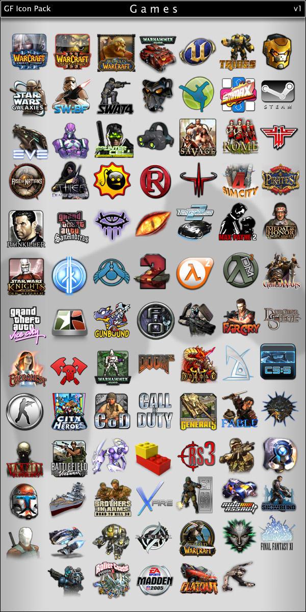 GF icon pack - Games - v1 by Gotchaforce