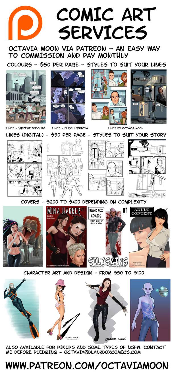 Comic Art Commissions via Patreon by Octavia-Moon