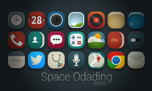 Space Odading Icons by kancil-kecil