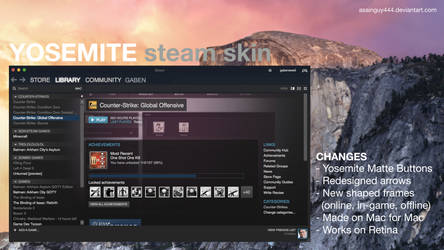 Yosemite Steam Skin (OS X 10.10) [Works on Retina]