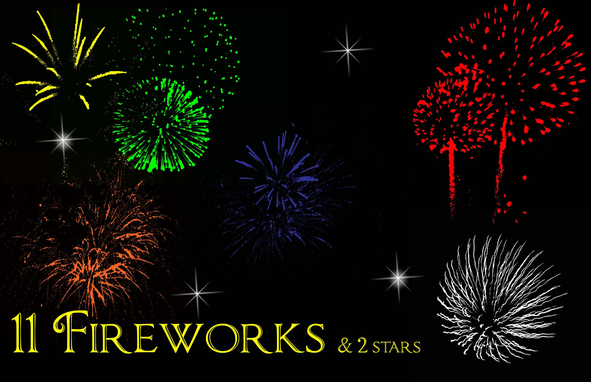 Firework brushes by mandykat