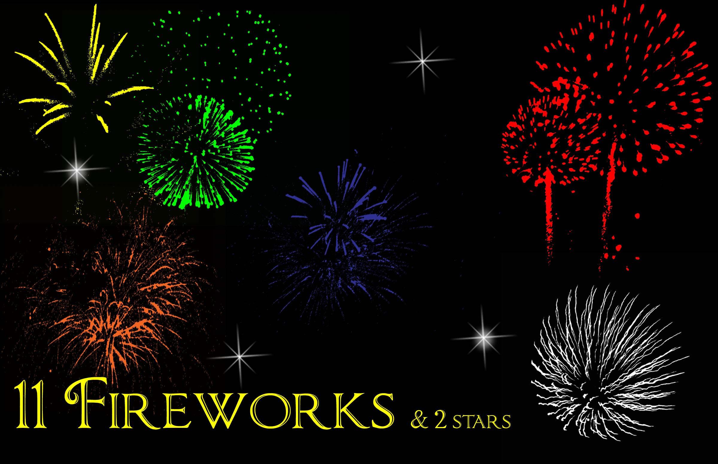 Firework brushes by mandykat