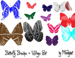 Butterfly Brushes PhotoshopCS by mandykat