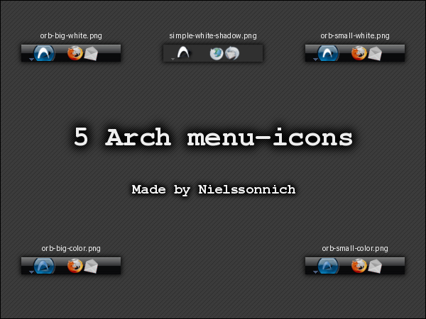 5 Arch menu-icons by Nielssonnich