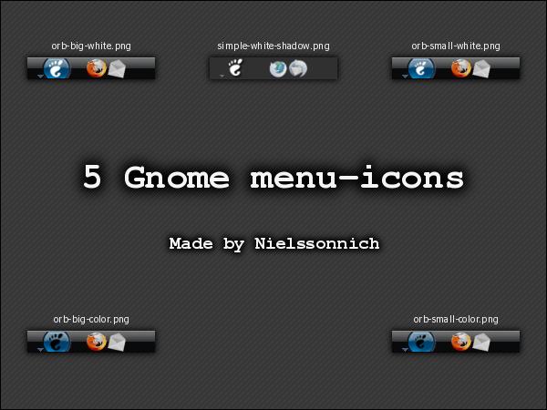 5 Gnome menu-icons