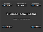 5 Gnome menu-icons