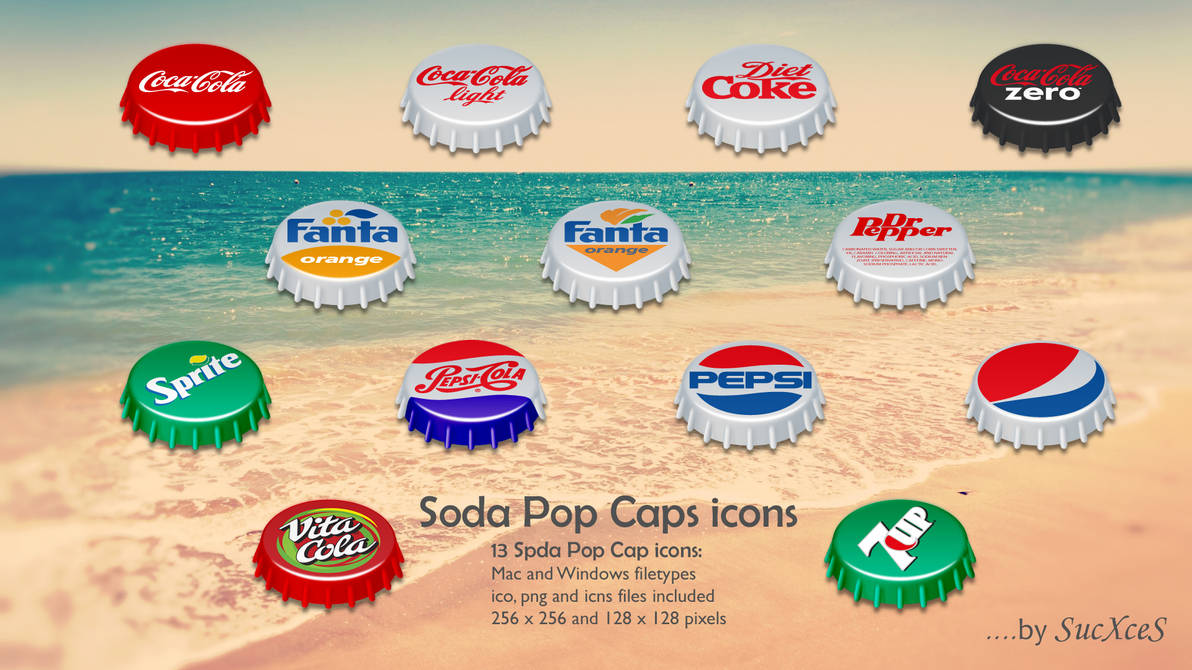 Soda Pop Caps Icons by SucXceS