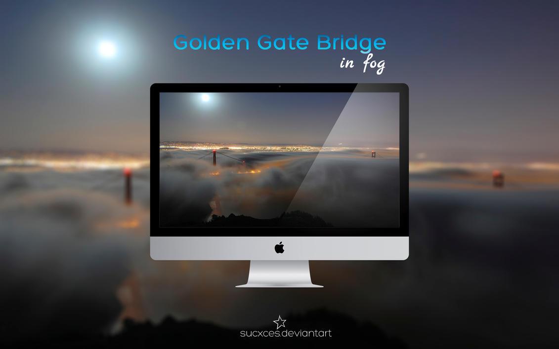 Golden Gate Bridge in fog by SucXceS
