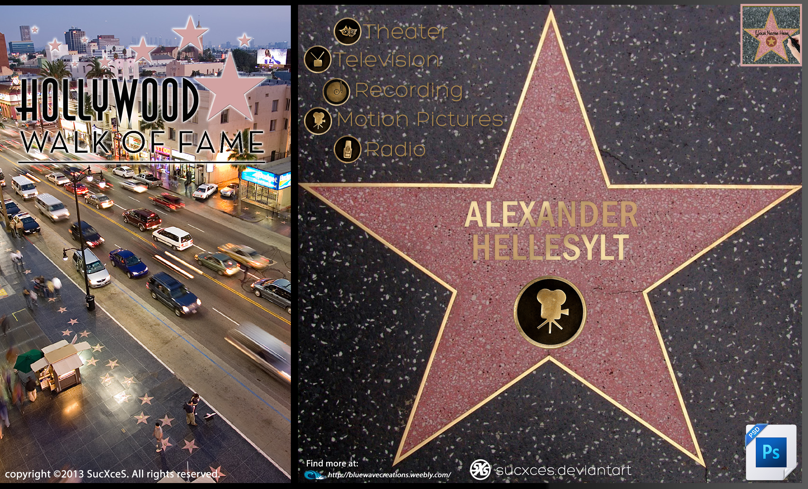hollywood walk of fame psd by sucxces on deviantart